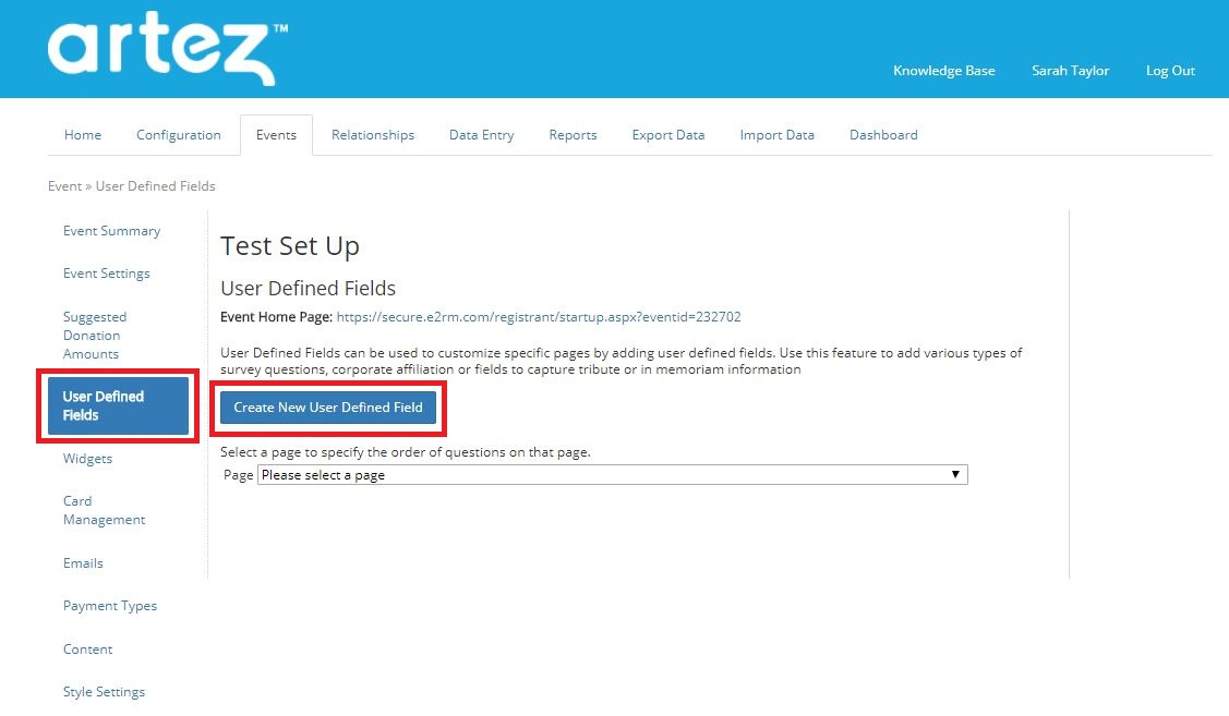 purchase items template user defined fields survey questions