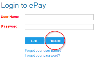 Click on the Register button