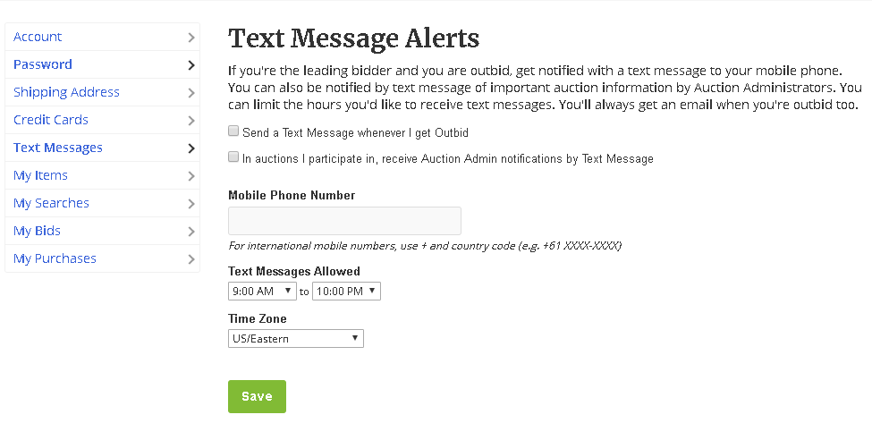 Turn On Text Bid Alerts – FrontStream