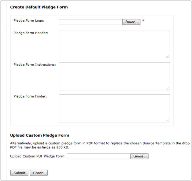 Downloadable pledge form – FrontStream